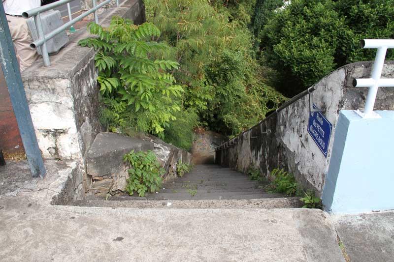 L'escalier Tiquat'sous, au centre-ville